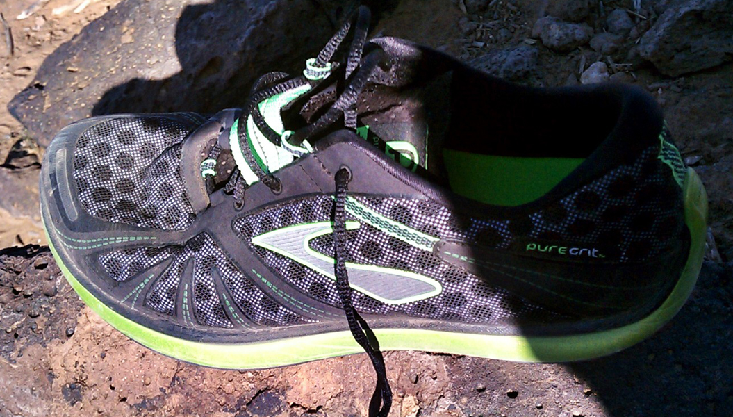 PureProject PureGrit from Brooks on the trail...
